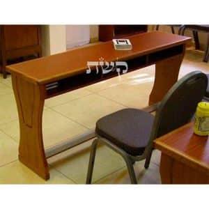 13- שולחן לימוד לבית מדרש, עם תאים