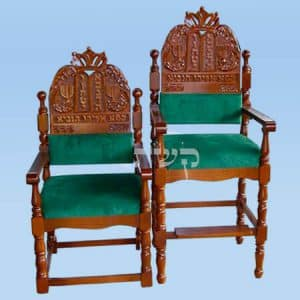 כיסאות אליהו הנביא- קשת רהיטי עץ ומתכת