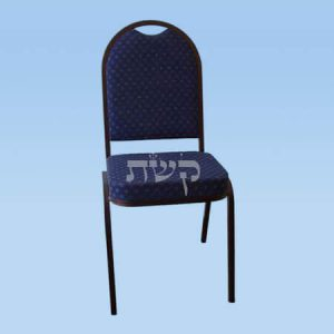 כסא נערם עם ריפוד - דגם 2202, מתכת שחורה