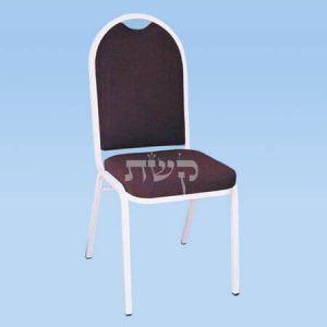 כסא נערם עם ריפוד - דגם 2202, מתכת לבנה