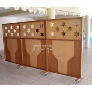 מחיצה ניידת בבית הכנסת בן איש חי, פאריז, צרפת- קשת