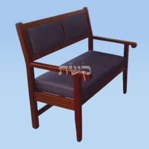 ספסל בית כנסת - דגם 114- קשת רהיטי עץ ומתכת