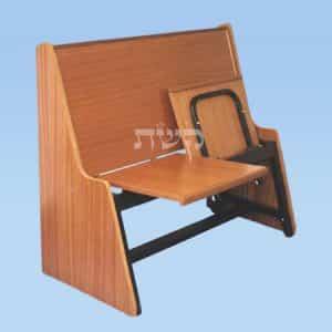 ספסל בית כנסת מחופה- קשת רהיטי עץ ומתכת