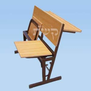 ספסל בית כנסת- מושבים מתקפלים + מדף- קשת