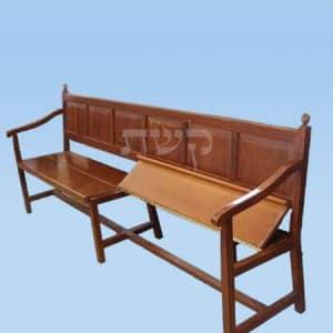 ספסל בית כנסת מעץ- קשת רהיטי עץ ומתכת