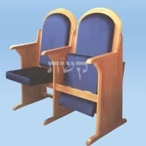 כסא בית כנסת - דגם 103- קשת רהיטי עץ ומתכת