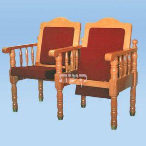 כסא בית כנסת - דגם 104- קשת רהיטי עץ ומתכת