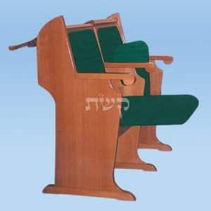 כסא בית כנסת - דגם 106- קשת רהיטי עץ ומתכת