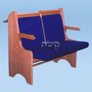 כסא בית כנסת- דגם 109- קשת רהיטי עץ ומתכת