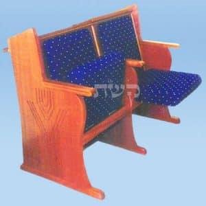כסא בית כנסת- דגם 115- קשת רהיטי עץ ומתכת