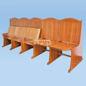 כסא בית כנסת- דגם 116- קשת רהיטי עץ ומתכת