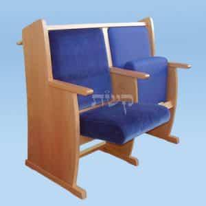 כסא בית כנסת- דגם 117- קשת רהיטי עץ ומתכת