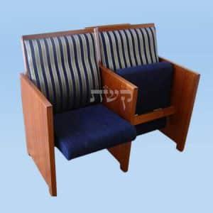 כסא בית כנסת- דגם 121- קשת רהיטי עץ ומתכת