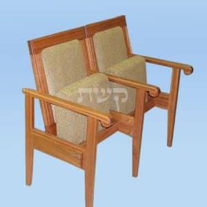 כסא בית כנסת- דגם אור חנניה- קשת רהיטי עץ ומתכת