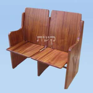 כסא בית כנסת מעץ, ללא ריפוד- קשת רהיטי עץ ומתכת