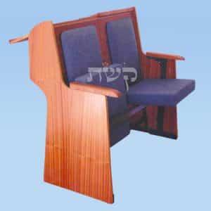 כסא בית כנסת - דגם 86- קשת רהיטי עץ ומתכת