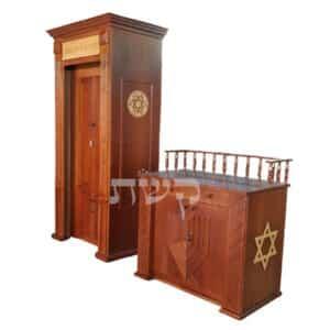 ארו קודש ותיבה מעוטרים בבית הכנסת בקיבוץ בית קמה